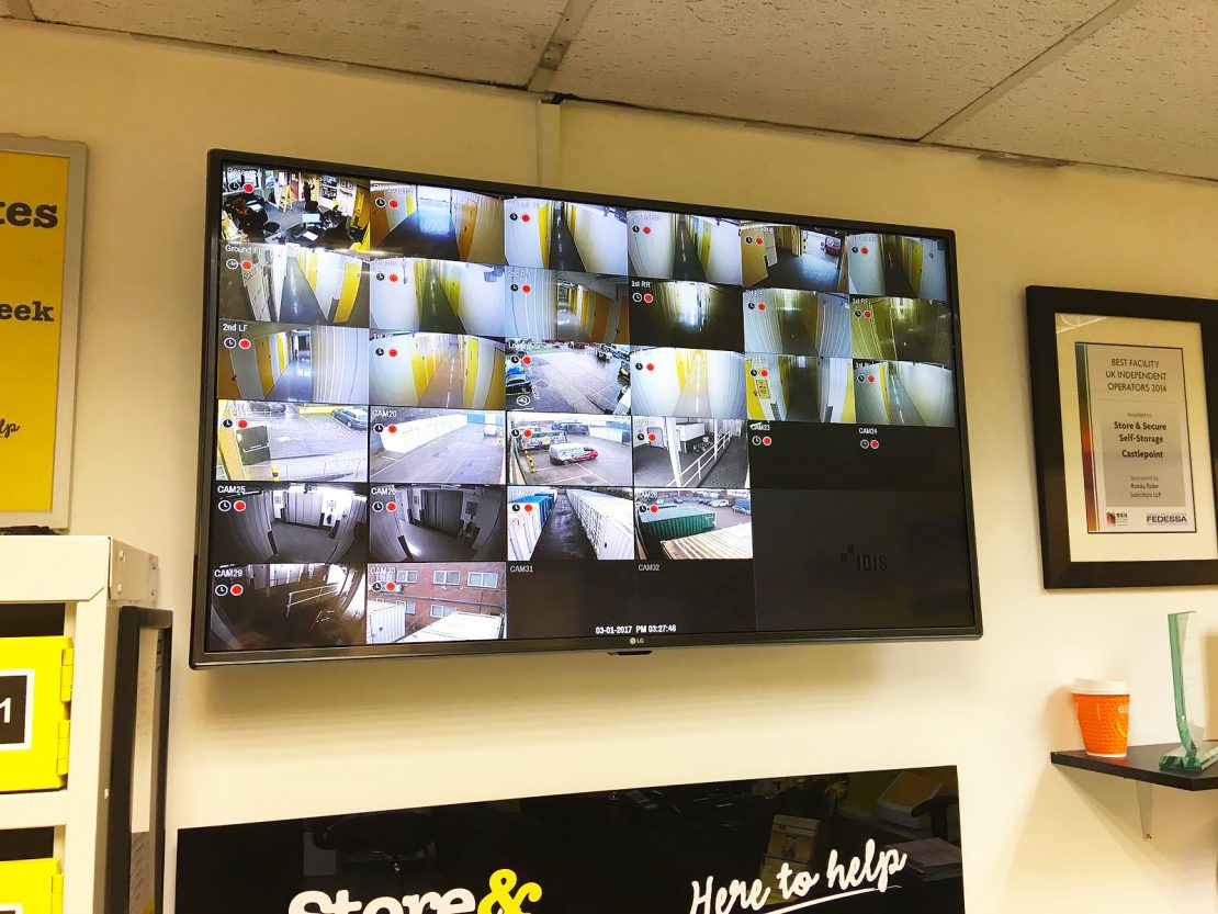 CCTV camera monitors on a customer premises in Dorset