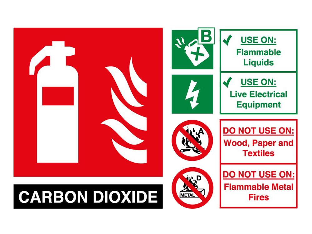 Carbon Dioxide (CO2) Fire Extinguisher Sign UK
