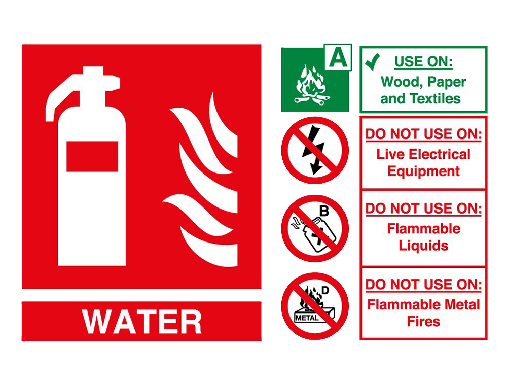 Water Fire Extinguisher Sign UK 2017