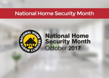 Interior of house for National Home Security Month October 2017